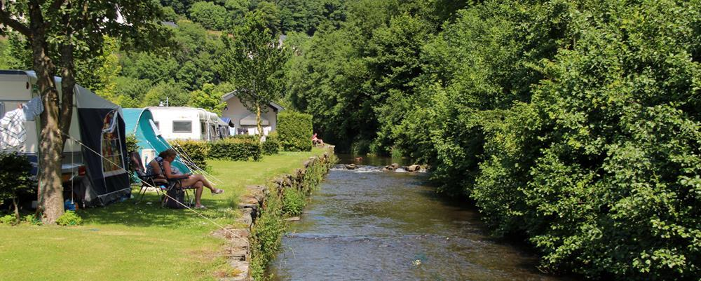 The campsite is located close to the river Clerve